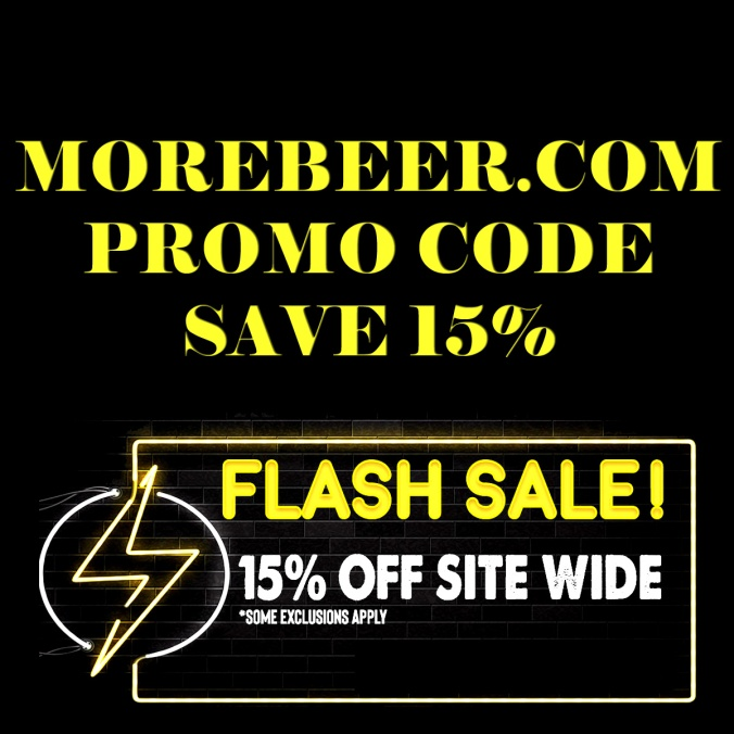 MoreBeer.com Flash Sale Coupon Code for 15% Off