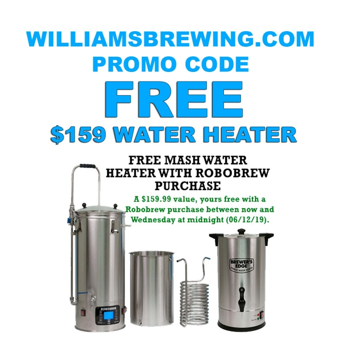 Free $159 Mash Heater With A RoboBrew Purchase