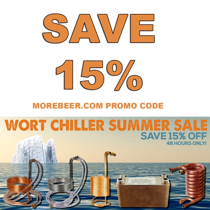 Save 15% On Homebrew Chillers at More Beer