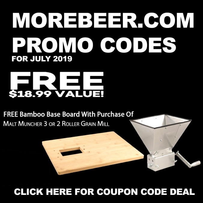 Get a Free Bamboo Grain Mill Base Board With This MoreBeer.com Promo Code