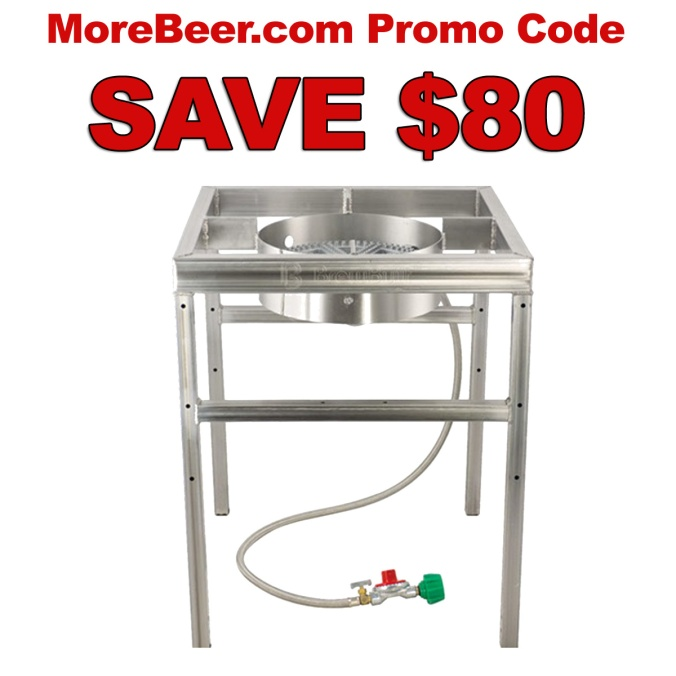 MoreBeer.com Promo Code for $80 Off a Home Brewing Burner
