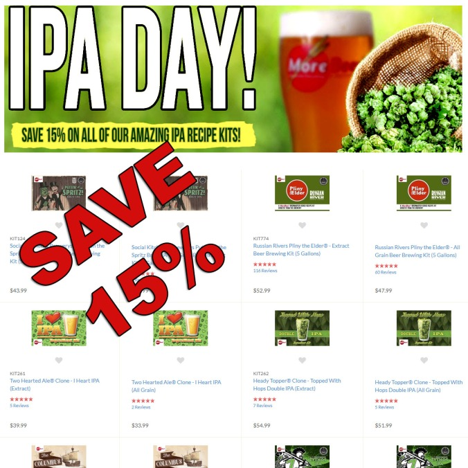 More Beer Promo Code for 15% Off IPA Kits