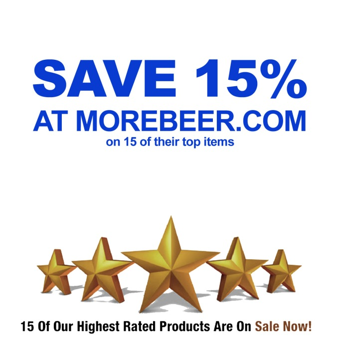 Save an Additional 15% on 15 of More Beer's Best Items with this MoreBeer.com Coupon