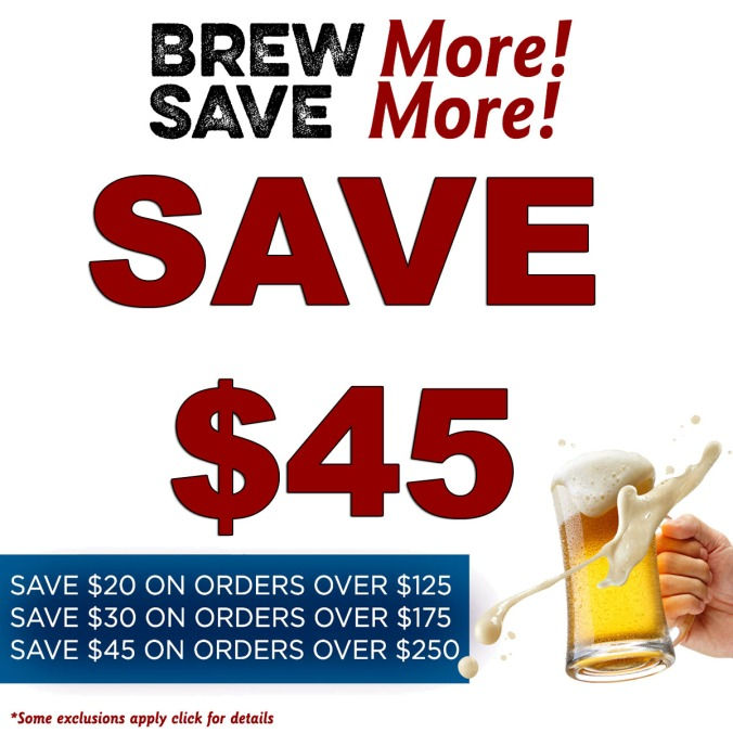 MoreBeer.com Promo Code for $45 Off Your Purchase!