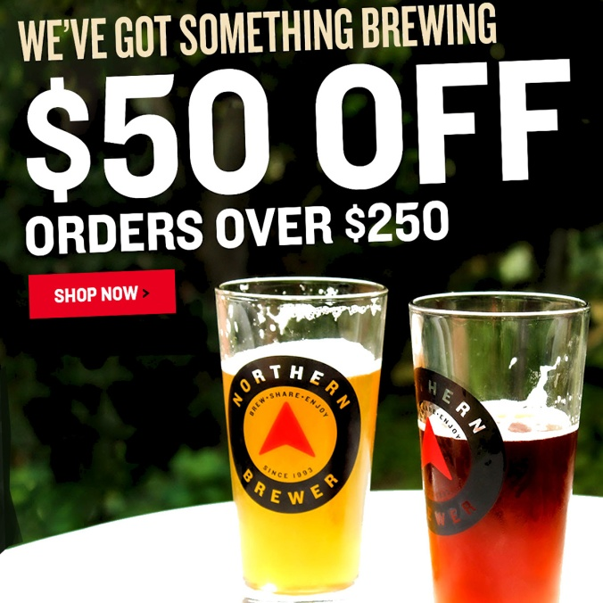 Save $50 on your $250 Purchase with this Northern Brewer Promo Code