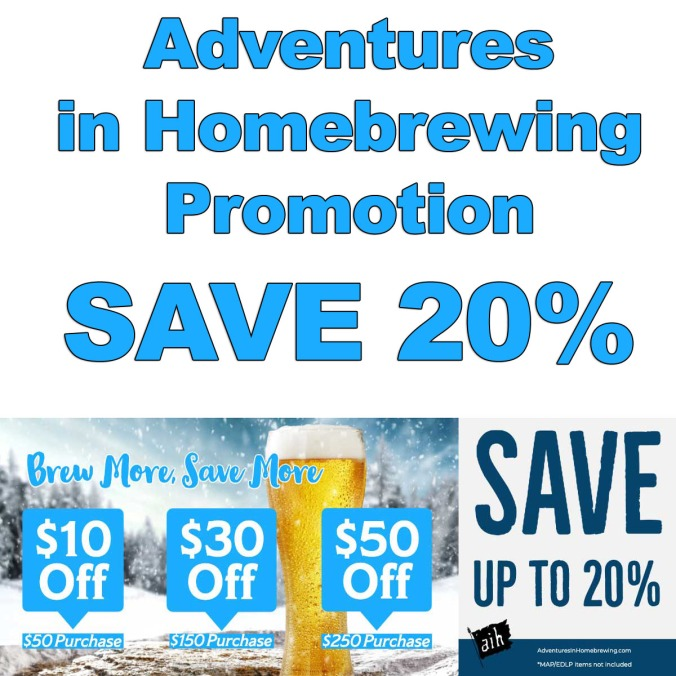 Save 20% at Adventures in Homebrewing - November 2019