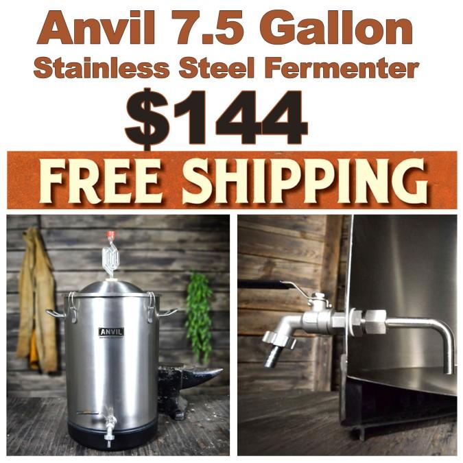 Anvil Stainless Steel Fermenter Promo Code