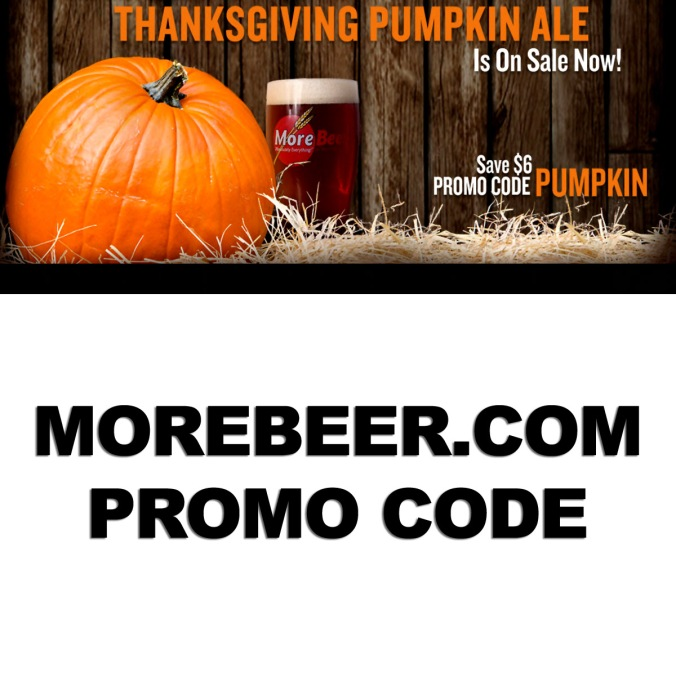 November Promo Code for MoreBeer.com - Save $6 On Pumpkin Beer Recipe Kits
