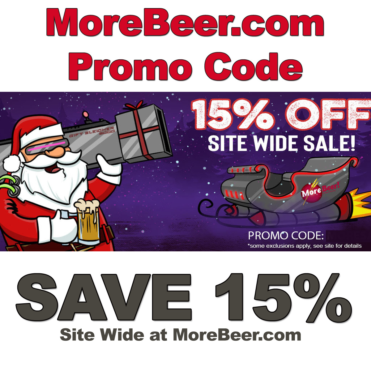 MoreBeer.com Coupon Code for 15% Off Site Wide
