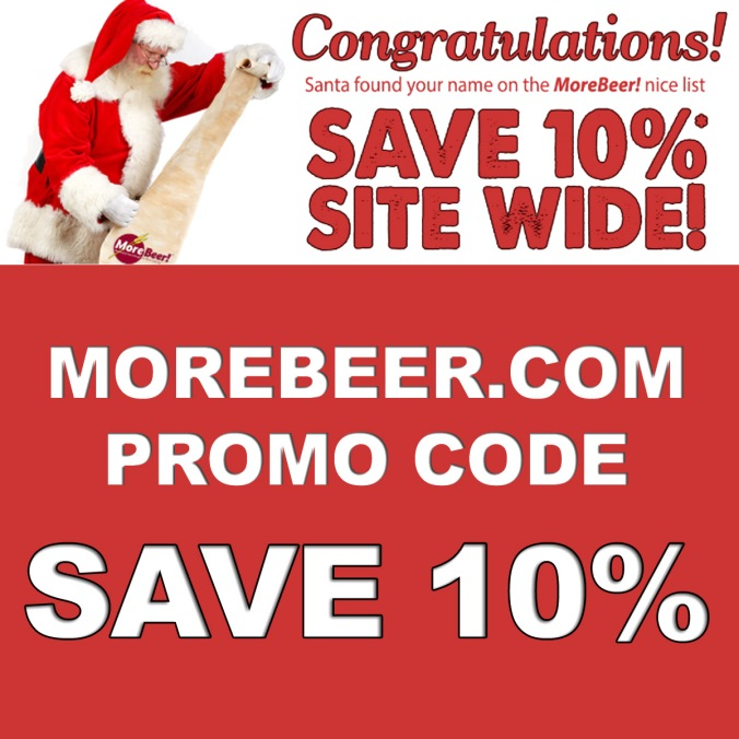Save 10% this Holiday with this MoreBeer.com Coupon Code.
