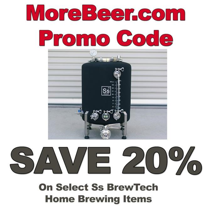 Promo code for Ss BrewTech and MoreBeer.com