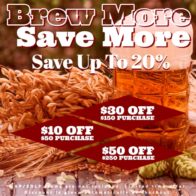 Save $50 at Adventures in Homebrewing and get Free Shipping!