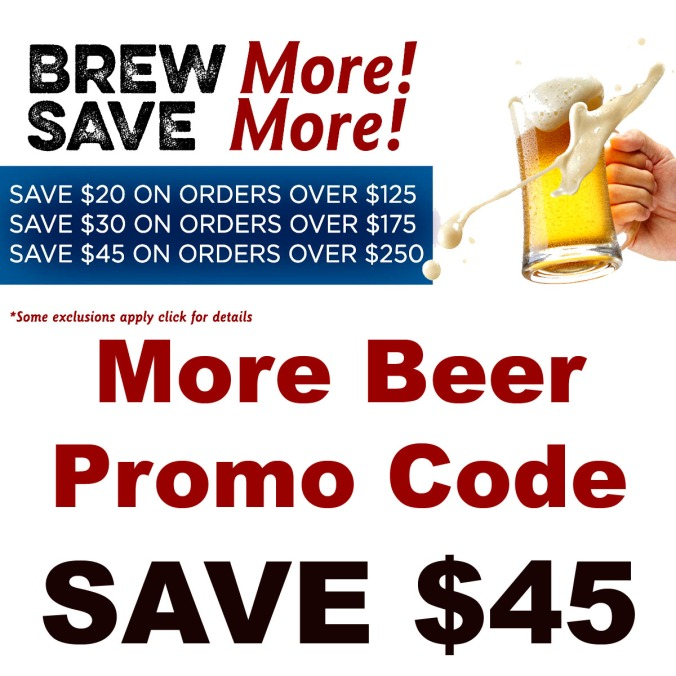 MoreBeer.com Coupon Code for $45 Off Your Purchase