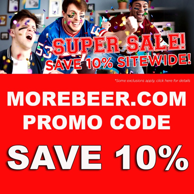 Save 10% Site Wide at MoreBeer.com with this Promo Code for January 2020