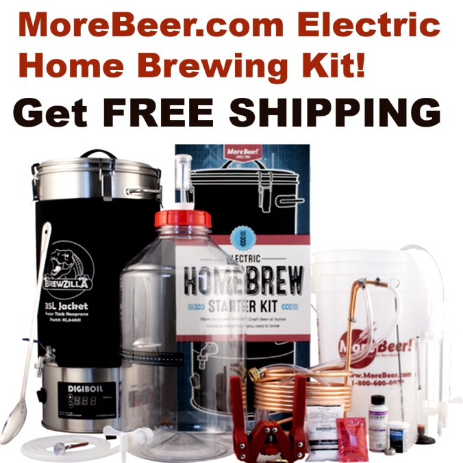 Use this MoreBeer.com promo code and Get a Free Beer Kit at MoreBeer with an Electric Home Brewing System