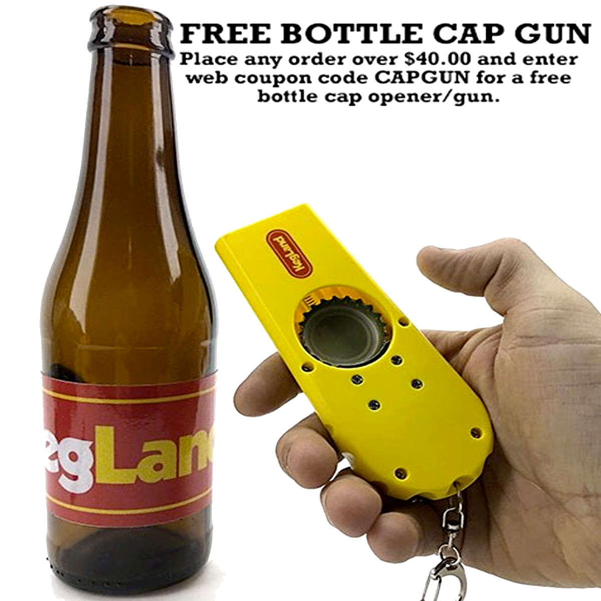 Get a Free Beer Cap Gun with this WilliamsBrewing.com Promo Code