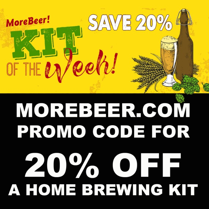 Get 20% Off A MoreBeer.com Home Brewing Beer Kit with this Promo Code.