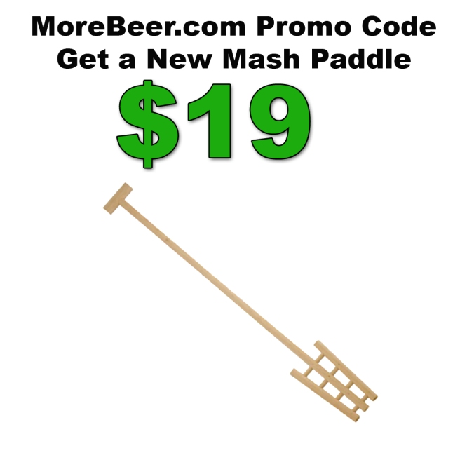 Homebrewing Mash Paddle for Just $19 with this More Beer Promo Code