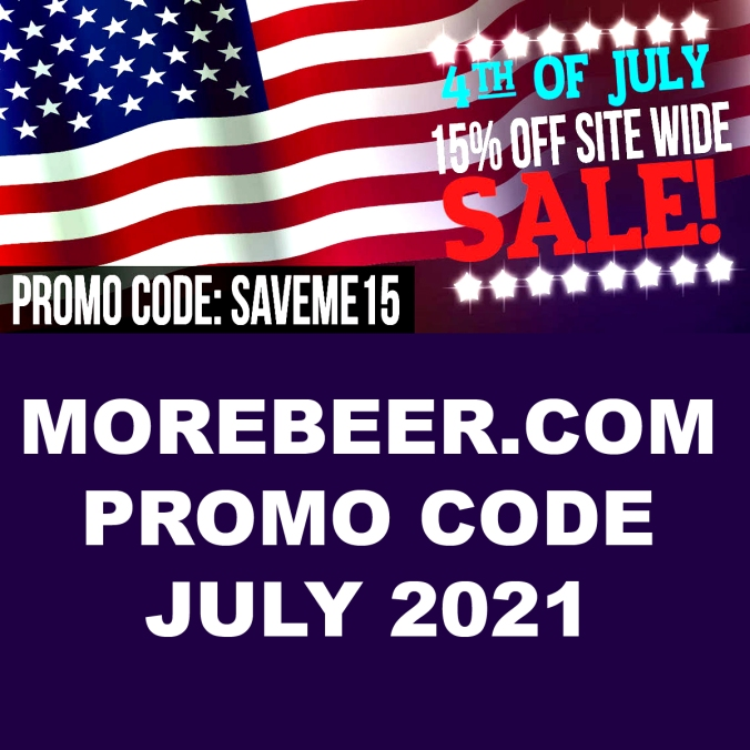 Save 15% on your order at MoreBeer.com with this 4th of July Home Brewing Promo Code